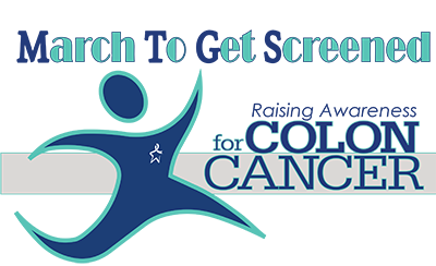 March to Get Screened Logo